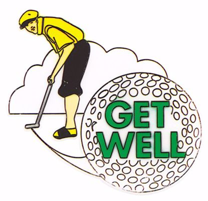 "Picture of 4"" Get Well Well Golfer Pick"