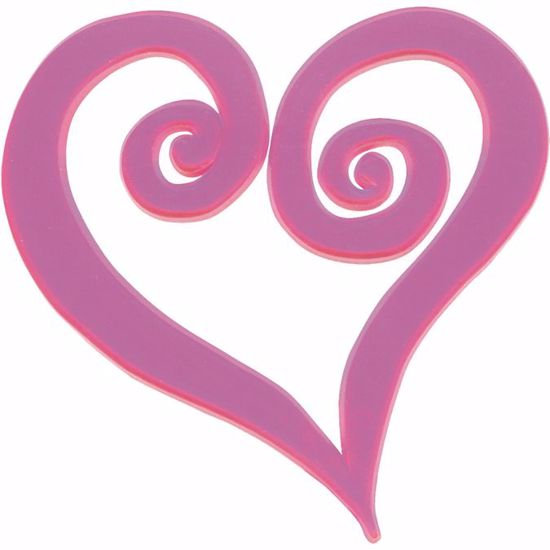 """Picture of 4"""" Pink Swirl Heart Pick"""