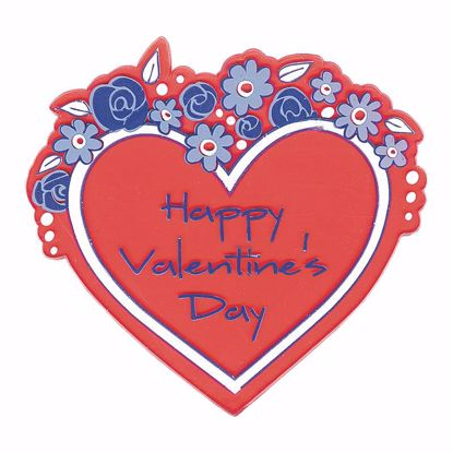"""Picture of 3.5"""" Happy Valentine's Day Heart Pick"""