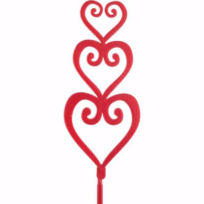 Picture of Red Triple Heart Pick