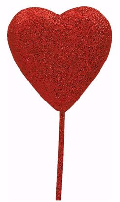 "Picture of 1.5"" Red Foam Heart Pick"