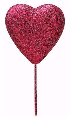 "Picture of 2.25"" Light Pink Foam Heart Pick"