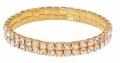Picture of 2 Row Rhinestone Wristlet-24k Gold