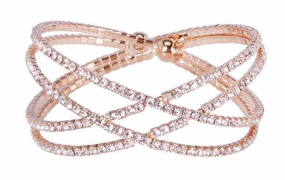 Picture of Atlantic Gold Channel Set Crystal Cuff Crossover