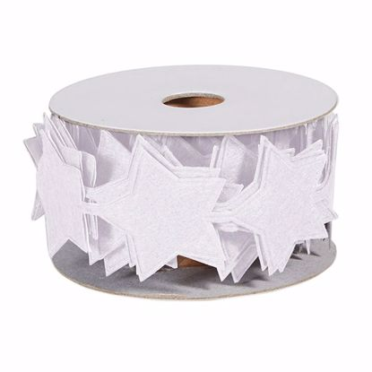 Picture of Oasis Felt Adhesive Wrap - White Star