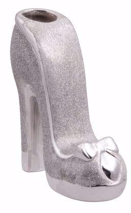 Picture of High Heel Silver Shoe Ceramic Vase