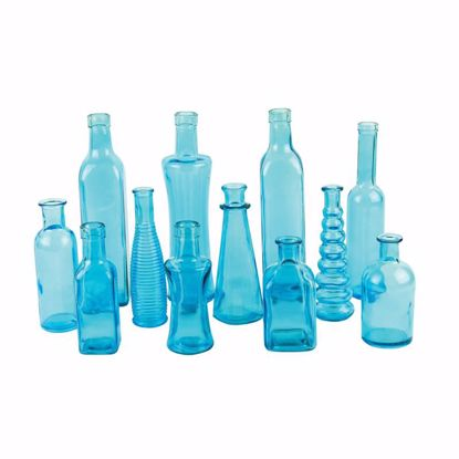 Picture of Syndicate Sales Vintage Glass Bottle Collection - Blue