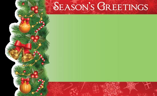 Picture of Seasons Greetings Enclosure Card (PACK 50)