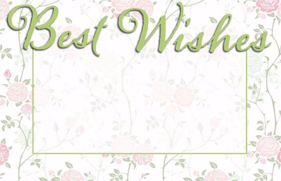 Picture of Best Wishes Enclosure Card (PACK 50)