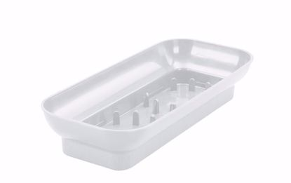 Picture of Diamond Line Oblong Design Tray - White