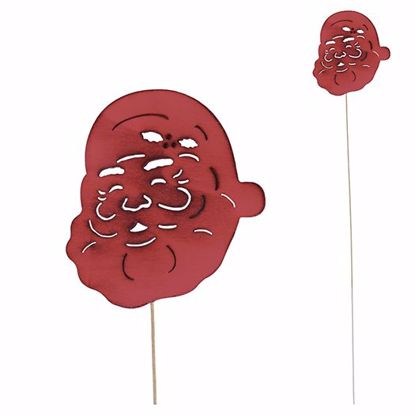 """Picture of 18"""" Laser Cut Wood Santa Pick - Red"""