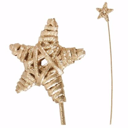 """Picture of 2.75"""" Gold Wicker Star Pick"""
