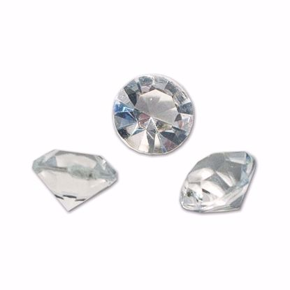 Picture of 12mm Clear Diamond Gems