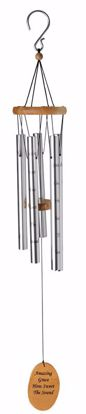 """Picture of Amazing Grace 40"""" Silver Wind Chime"""