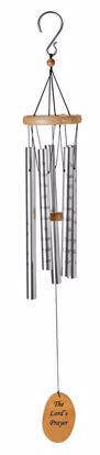 """Picture of Lord's Prayer 40"""" Silver Wind Chime"""