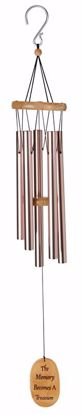 """Picture of Plain 40"""" Rose Gold Wind Chime"""