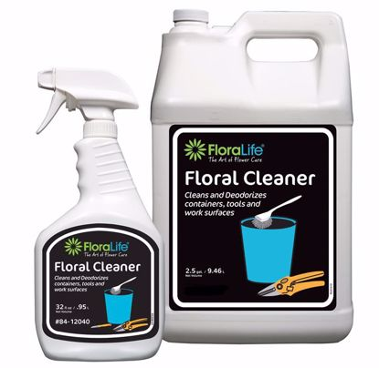 Picture of Floralife Liquid Floral Cleaner - 2.5 Gallon Jug w/Empty 32 oz. Spray Bottle