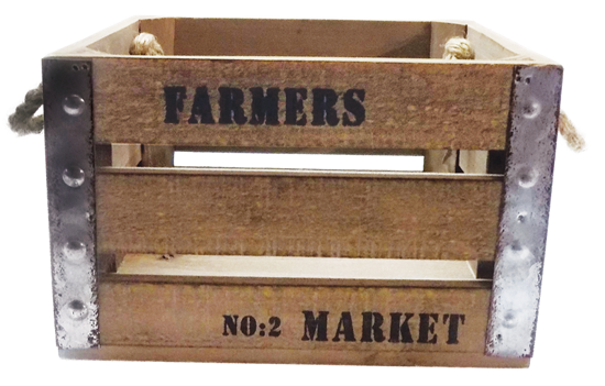 Picture of Rectangular Wood Crate
