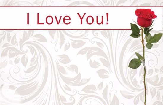 Picture of I Love You! Enclosure Card (PACK 50)