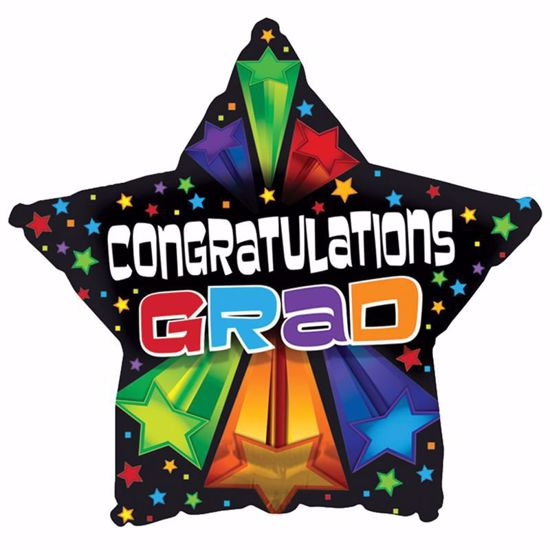 """Picture of 17"""" 2-Sided Foil Balloon: Bursting Star Grad"""