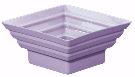 "Picture of Diamond Line 5"" Square Planter - Lilac"
