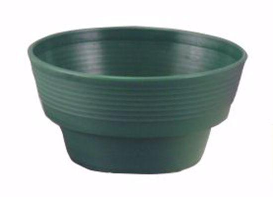 "Picture of Diamond Line 8"" Round Planter - Green"