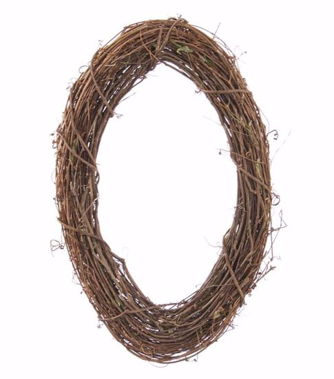 """Picture of 18"""" Oval Grapevine Wreath"""