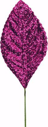 "Picture of 2.25"" Glitter Corsage Leaves - Fuchsia"