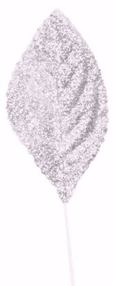 "Picture of 2.25""  Glitter Corsage Leaves - Iridescent"