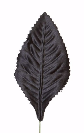 "Picture of 3"" Atlantic Never Wilt Corsage Leaves - Black"