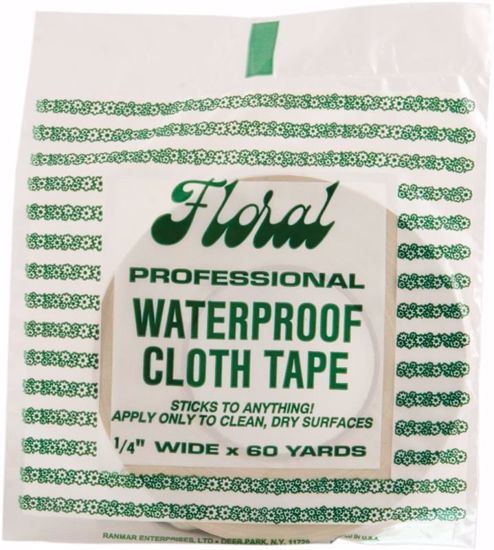 """Picture of 1/4"""" Waterproof Cloth Tape - White"""