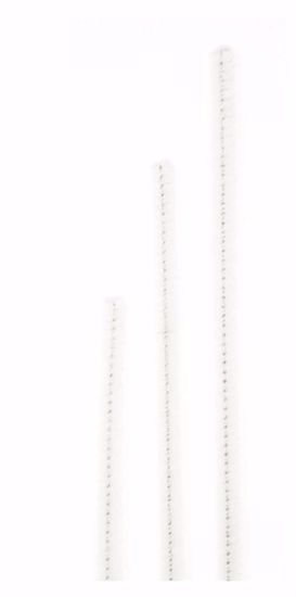 """Picture of 12"""" Traditional Chenille Stem - White"""