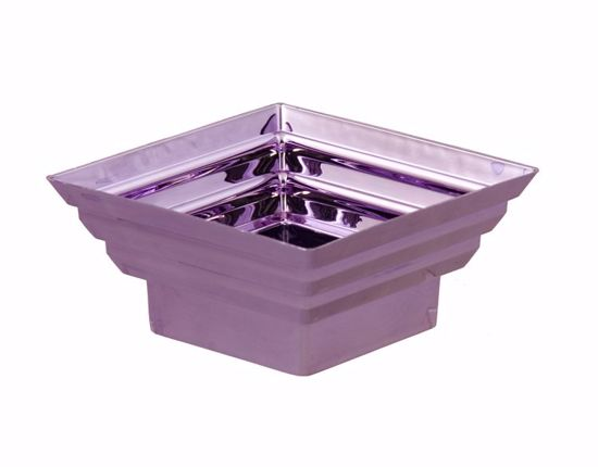 "Picture of Diamond Line Square Planter 5""-Metallic Lilac"