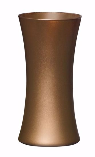 """Picture of Oasis 8"""" Glass Gathering Vase - Caramel"""