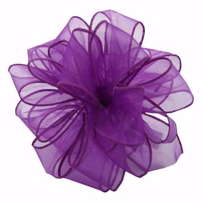 Picture of #9 Deluxe Sheer Wired Ribbon - Purple