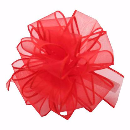 Picture of #9 Deluxe Sheer Wired Ribbon - Red