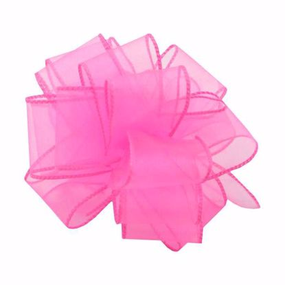 Picture of #9 Deluxe Sheer Wired Ribbon - Hot Pink