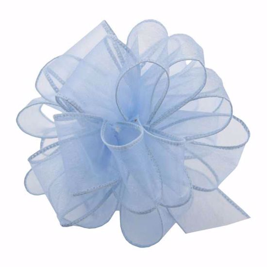 Picture of #9 Deluxe Sheer Wired Ribbon - Blue