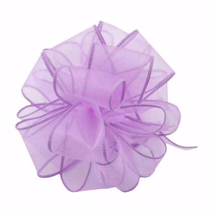 Picture of #9 Deluxe Sheer Wired Ribbon - Lavender