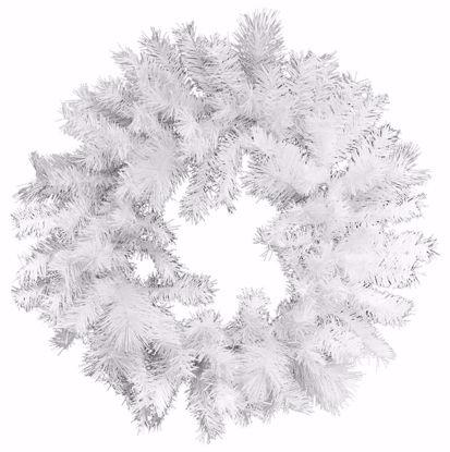 "Picture of Festive Winter Wreath-White Needle Pine (24"")"