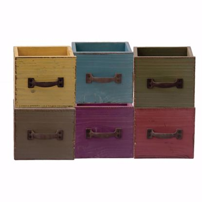 Picture of 6 Asst Square Wooden Drawer