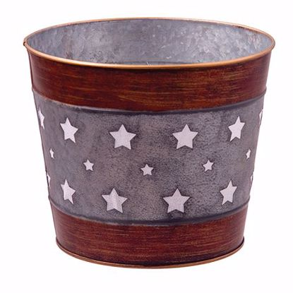 """Picture of Metal Pot Cover with Stars 7"""""""