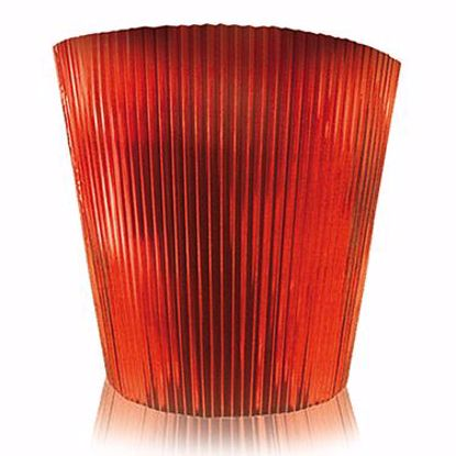 "Picture of Clayrton's 5.75"" Metallic Red Pleated Sleeve"