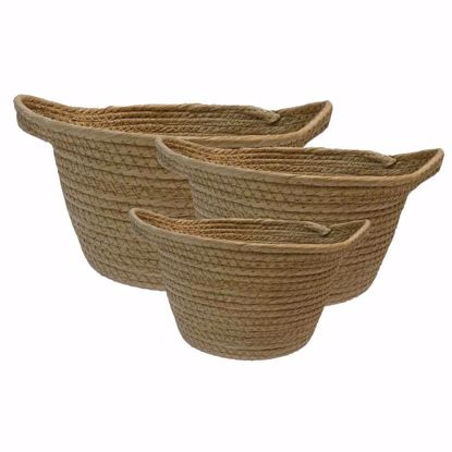 Picture of S/3 Natural Twisted Paper Baskets