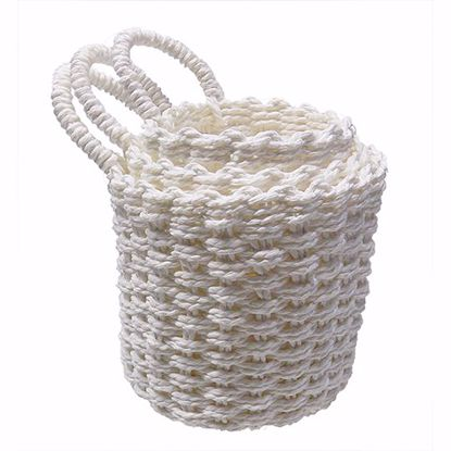 Picture of S/3 Twisted Paper Soft Weave Baskets w/Ear Handle