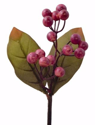 """Picture of Burgundy Berry Leaves Spray-8.5"""""""