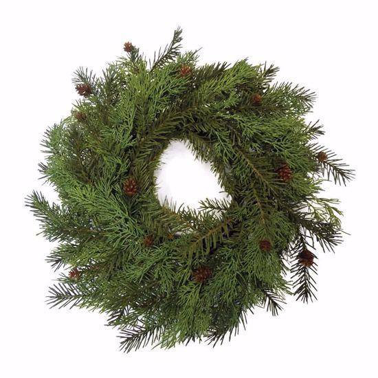 """Picture of 20"""" Pine Cone Cedar Wreath w/Foam Base"""