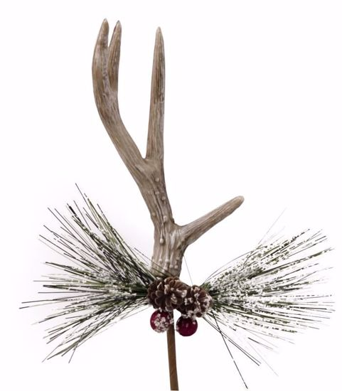 """Picture of 11.5"""" Brown Antler Berry Pick"""