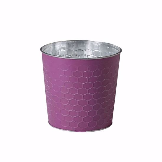 """Picture of 5.5"""" Honeycomb Tin Purple Cabbage Pot Cover"""
