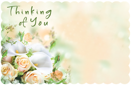 Picture of Thinking of You Enclosure Card (PACK 50)